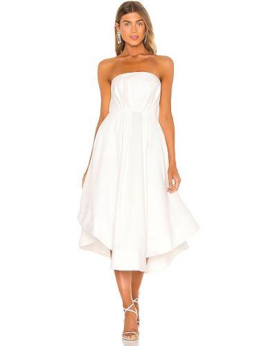 Белое платье с декольте свободного кроя C/meo