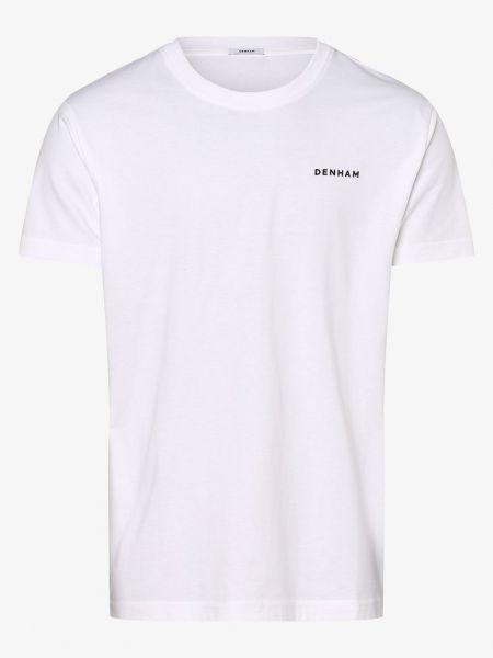 Biały t-shirt Denham