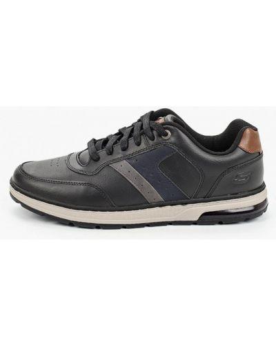 Кожаные черные кроссовки Skechers