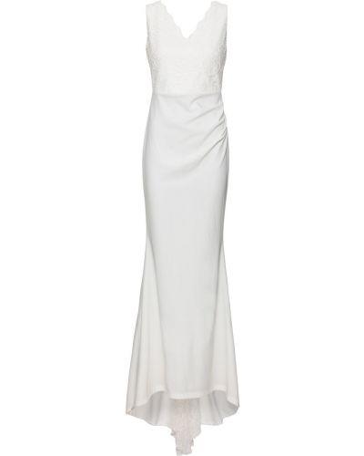 Платье со шлейфом со вставками Bonprix