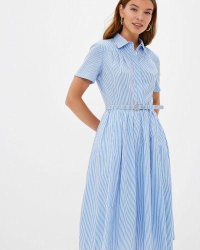 Платье платье-рубашка синее Lusio