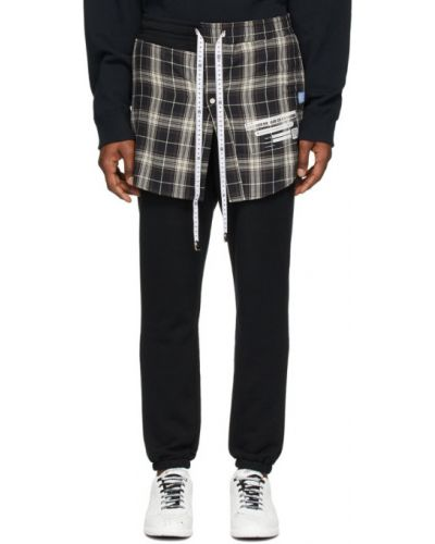 Czarne spodnie bawełniane Miharayasuhiro