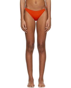 Оранжевые нейлоновые бикини с подкладкой с пряжкой Rudi Gernreich