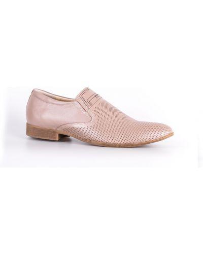 Кожаные туфли - бежевые Strado