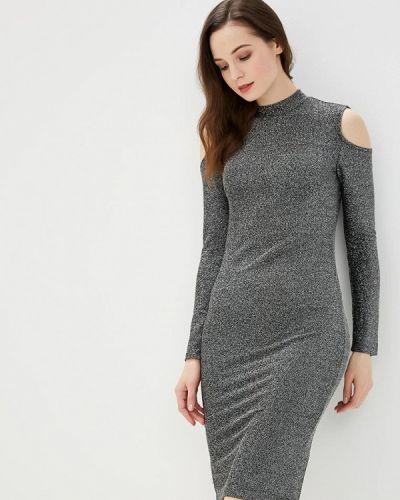 Серебряное вечернее платье Modis
