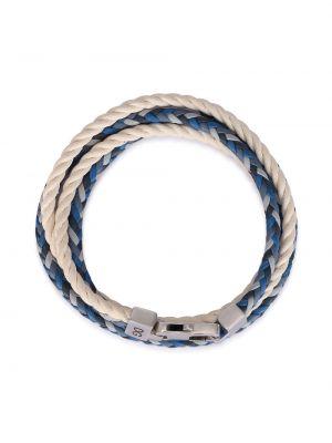 Niebieska bransoletka skórzana Dolce And Gabbana