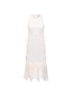 Белое платье с подкладкой Alice + Olivia