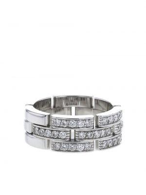 Кольцо с бриллиантом - белое Cartier