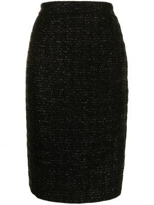 Черная юбка винтажная Christian Dior