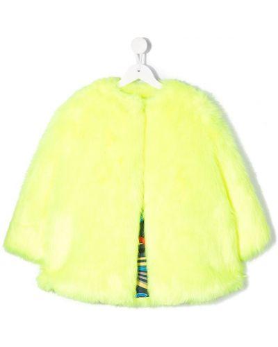 Желтое длинное пальто Msgm Kids