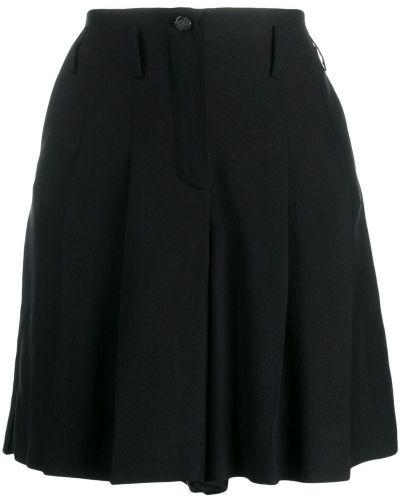 Однобортные черные шорты Chanel Pre-owned