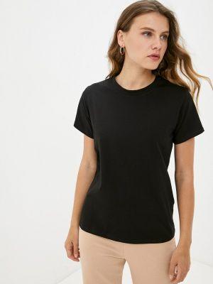 Черная футболка с короткими рукавами Mana