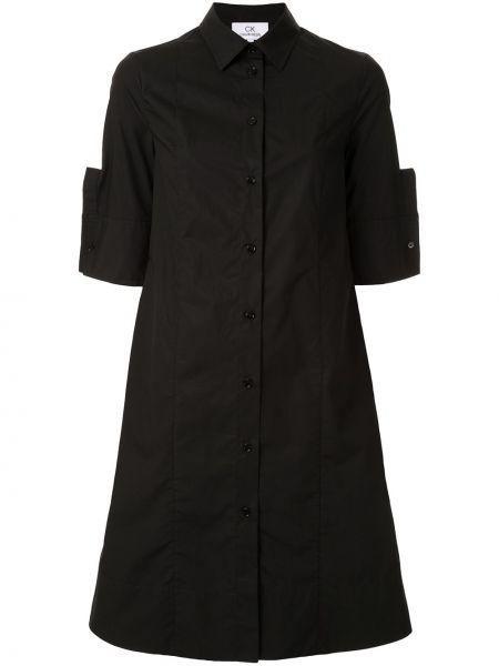 Платье мини короткое - черное Ck Calvin Klein