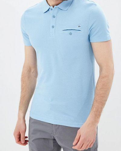Поло голубой Finn Flare