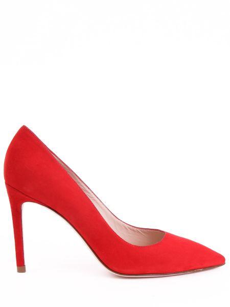 Базовые красные туфли-лодочки закрытые с закрытой пяткой Stuart Weitzman