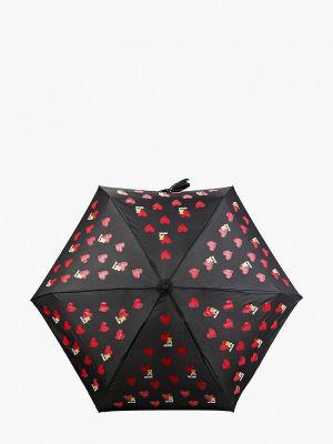 Складной зонт - черный Moschino