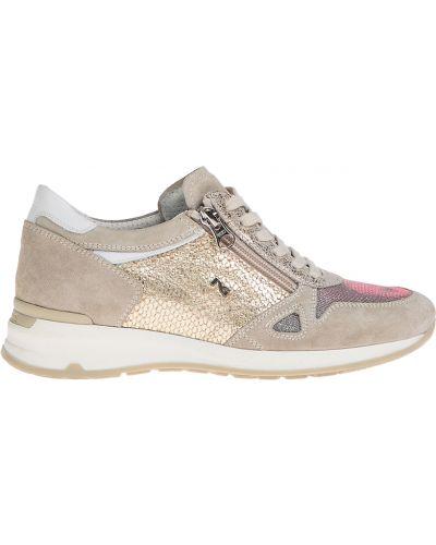 Кожаные кроссовки - бежевые Nero Giardini