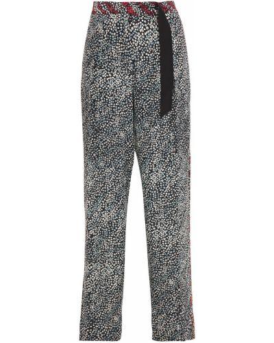 Czarne spodnie z jedwabiu Rag & Bone
