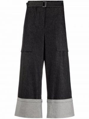 Укороченные брюки - черные Odeeh