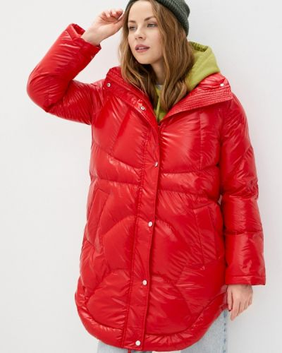 Утепленная красная куртка On Parle De Vous