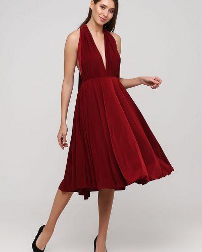 Красное коктейльное платье трансформер с открытой спиной Goddiva