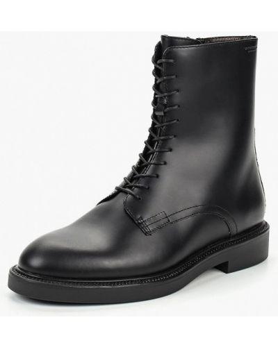 Кожаные ботинки осенние черный Vagabond