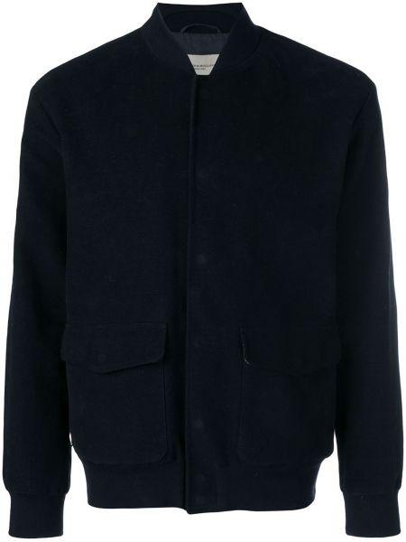 Синяя куртка на пуговицах с манжетами с воротником Holland & Holland