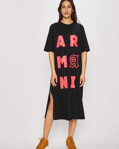 Платье прямое с вырезом Armani Exchange