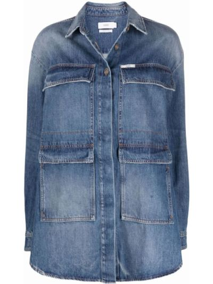 Рубашка с длинным рукавом классическая - синяя Closed