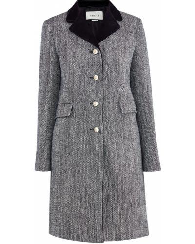 Пальто классическое свободное шерстяное Gucci