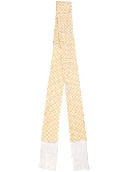 Желтый шелковый шарф в клетку Haider Ackermann