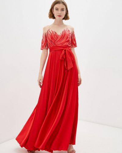 Красное вечернее платье Seam