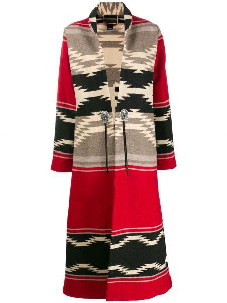 С рукавами красное шерстяное пальто на пуговицах Jessie Western