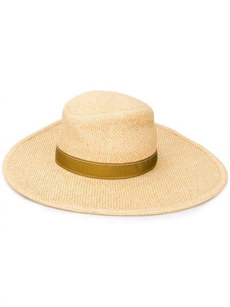 Beżowy kapelusz skórzany Chloe