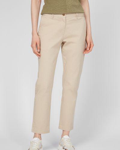 Бежевые классические брюки Gant