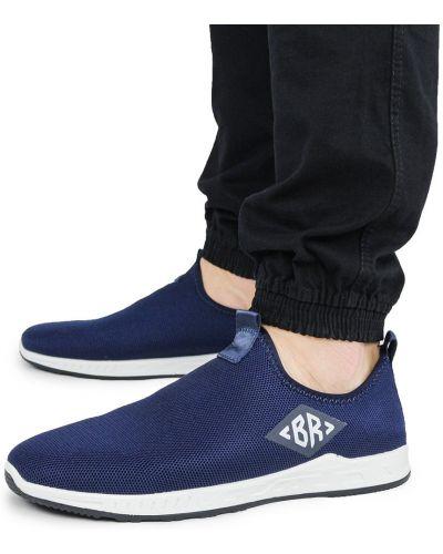 Текстильные слипоны - синие Bromen