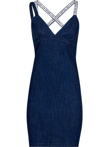 Хлопковое платье - синее Frankie Morello