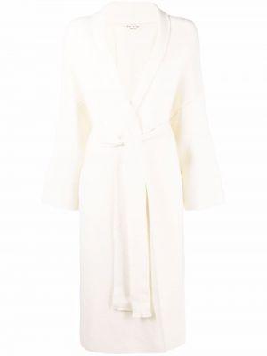 Белое длинное пальто Ma'ry'ya