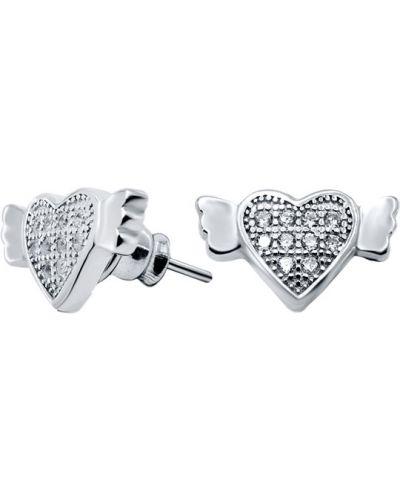 Серебряные серьги с фианитом Silver Wings