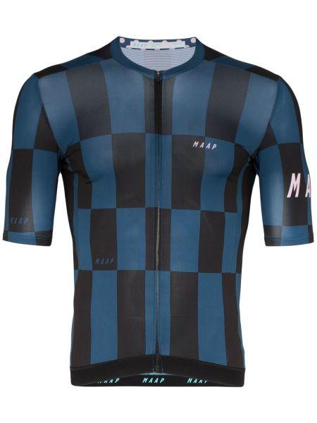 Черная спортивная футболка на молнии Maap