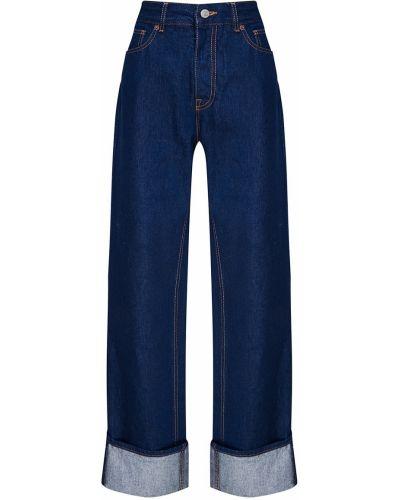 Широкие джинсы прямые с подворотами Mm6 Maison Margiela