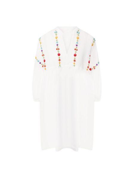 Льняное платье - белое 120% Lino