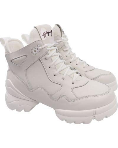 Кожаные ботинки - белые Arees Meniwa