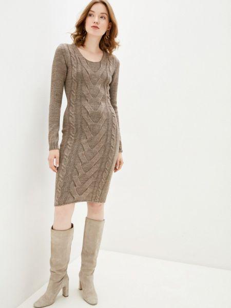 Платье - коричневое Happychoice