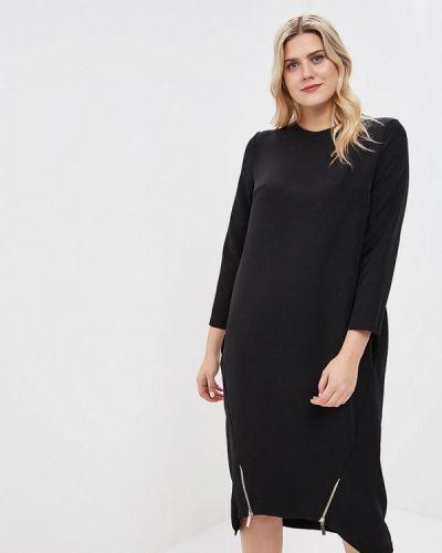 Повседневное платье осеннее черное Tutto Bene Plus