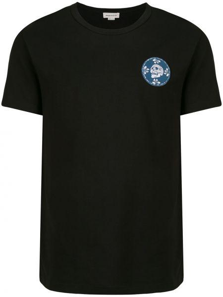 Koszula krótkie z krótkim rękawem prosto z czaszkami Alexander Mcqueen