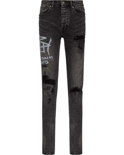 Czarne klasyczne jeansy Ksubi