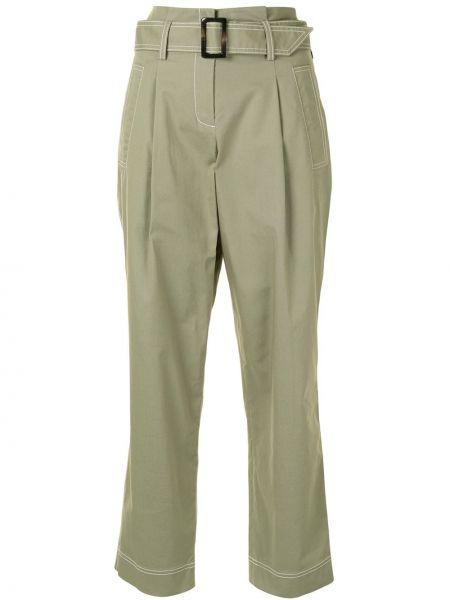 Укороченные брюки - зеленые Jonathan Simkhai