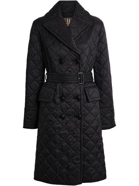 Pikowana płaszcz z paskiem lekki Burberry
