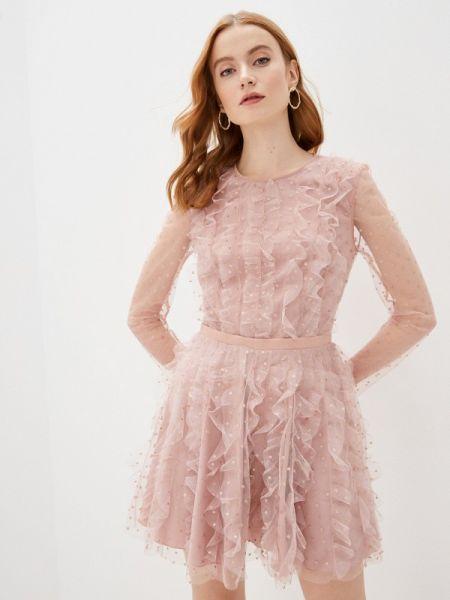 Вечернее платье розовое весеннее Imperial